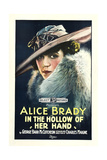 IN THE HOLLOW OF HER HAND  Alice Brady on poster art  1918