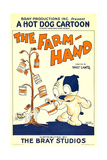 THE FARM HAND  (aka 'THE FARMHAND')  cartoon poster art  1927