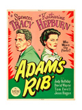ADAM'S RIB  l-r: Spencer Tracy  Katharine Hepburn on US poster art  1949