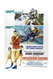 Thunderball  (aka Operacion Trueno)  Spanish language poster  Sean Connery  1965