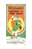 SOMETHING TO THINK ABOUT  poster art  1920