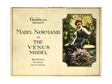 THE VENUS MODEL  Mabel Normand on title lobbycard  1918