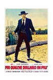 FOR A FEW DOLLARS MORE (aka PER QUALCHE DOLLARO IN PIU)  Lee Van Cleef on Italian poster art  1965