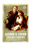SEVEN KEYS TO BALDPATE  l-r: George M Cohan  Anna Q Nilsson  1917