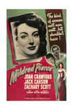 MILDRED PIERCE  US poster  from left: Joan Crawford  Zachary Scott  Jack Carson  1945