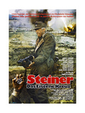 CROSS OF IRON  (aka STEINER DAS EISERNE KREUZ)  German Poster  James Coburn  1977