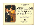 A DAUGHTER OF TWO WORLDS  right: Norma Talmadge on lobbycard  1920