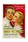 BRIEF MOMENT  from left: Gene Raymond  Carole Lombard  1933