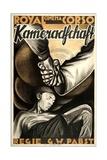 KAMERADSCHAFT  (aka COMRADESHIP  aka LA TRAGEDIE DE LA MINE)  German poster art  1931