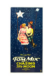 CHASING THE MOON  l-r: Eva Novak  Tom Mix on US insert poster  1922