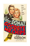 GOODBYE  MR CHIPS  Robert Donat  Greer Garson  1939  poster art