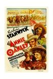 ANNIE OAKLEY  from top: Moroni Olsen  Melvyn Douglas  Barbara Stanwyck  1935