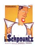 HEARTBEAT  (aka LE SCHPOUNTZ)  French poster  Fernandel  1938