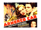 ARMORED CAR  top l-r: Judith Barrett  Robert Wilcox  bottom: Cesar Romero on poster art  1937