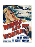 WINGS AND THE WOMAN  top left: Anna Neagle on window card  1942