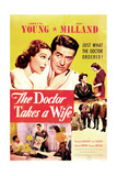 THE DOCTOR TAKES A WIFE  US poster  top from left: Loretta Young  Ray Milland  1940