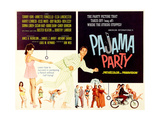 PAJAMA PARTY  on left: Annette Funicello (tugging shirt); fleeing center: Tommy Kirk  1964