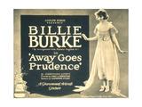 AWAY GOES PRUDENCE  Billie Burke on title lobbycard  1920