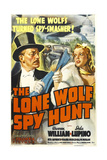 THE LONE WOLF SPY HUNT  US poster art  from left: Warren William  Ida Lupino  1939