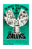 DR WHO AND THE DALEKS  top l-r: Peter Cushing  Jennie Linden  Roberta Tovey on poster art  1965
