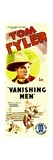 VANISHING MEN  Tom Tyler on insert poster  1932