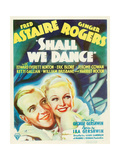 SHALL WE DANCE  from left: Fred Astaire  Ginger Rogers on window card  1937