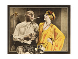FOOLISH WIVES  l-r: Erich Von Stroheim  Maude George on lobbycard  1922