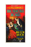 THE TENDER HOUR  l-r: Billie Dove  Ben Lyon  Montagu Love on poster art  1927