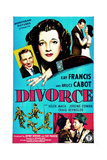 DIVORCE  US poster  top from left: Bruce Cabot  Kay Francis  1945