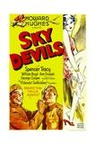 SKY DEVILS  bottom left from left: William Boyd  Spencer Tracy  1932
