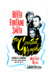 THE CONSTANT NYMPH  US poster  from top: Joan Fontaine  Charles Boyer  Alexis Smith  1943