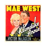 KLONDIKE ANNIE  US poster art  from left: Mae West  Victor McLaglen  1936