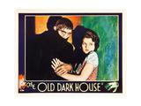 THE OLD DARK HOUSE  l-r: Boris Karloff  Lilian Bond on lobbycard  1932