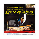 HOUSE OF USHER  (aka THE FALL OF THE HOUSE OF USHER)  1-sheet poster art by Reynold Brown  1960