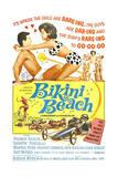 BIKINI BEACH  Poster Art  Frankie Avalon  Annette Funicello  1964