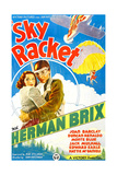 SKY RACKET  US poster art  from left: Joan Barclay  Bruce Bennett (aka Herman Brix)  1937