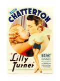 LILLY TURNER  from left: Ruth Chatterton  George Brent on midget window card  1933