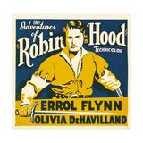 THE ADVENTURES OF ROBIN HOOD  Errol Flynn on jumbo window card  1938