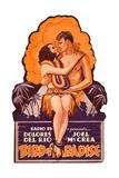 Bird of Paradise  Dolores Del Rio  Joel McCrea on die cut display  1932