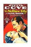THE YELLOW LILY  l-r: Billie Dove  Clive Brook on poster art  1928