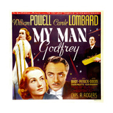 MY MAN GODFREY  from left: Carole Lombard  William Powell on jumbo window card  1936
