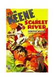 SCARLET RIVER  bottom left: Tom Keene  1933