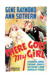 THERE GOES MY GIRL  US poster art  from left: Ann Sothern  Gene Raymond  1937