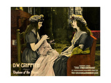 ORPHANS OF THE STORM  l-r: Lillian Gish  Dorothy Gish on lobbycard  1921