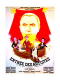 ENTREE DES ARTISTES  (aka THE CURTAIN RISES)  French poster art  top: Louis Jouvet  1938