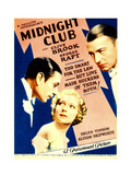 MIDNIGHT CLUB  from left: George Raft  Helen Vinson  Clive Brook on midget window card  1933