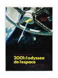 2001: A SPACE ODYSSEY (aka 2001: ODYSSEE DE LESPACE)  French poster  1968