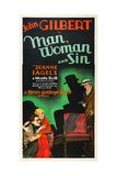 MAN  WOMAN AND SIN  l-r: John Gilbert  Jeanne Eagels on poster art  1927