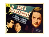SHE'S DANGEROUS!  from left: Cesar Romero  Walter Pidgeon  Tala Birell  1937