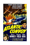 ATLANTIC CONVOY  US poster  center right: Bruce Bennett  bottom left: Virginia Field  1942